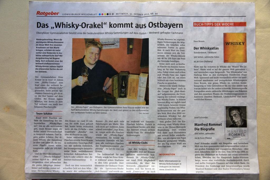 Aus dem Ludwigsburger Wochenblatt (u. versch. weiteren Lokalzeitungen)