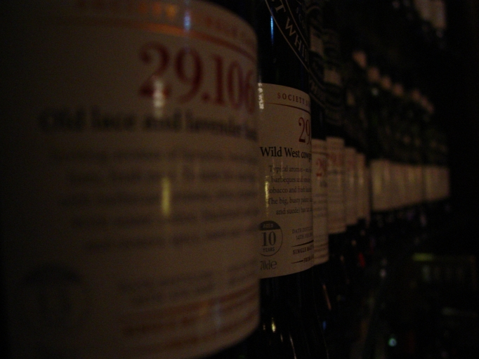 Row of SMWS Bottles