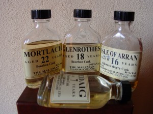 The Maltman Arran Mortlach Ledaig Glenrothes