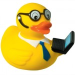 Ente Laptop Hipster Duck