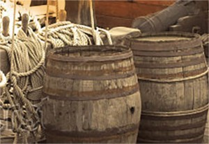 Rum Casks on ship