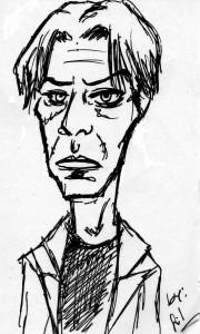 Bowie gemalt